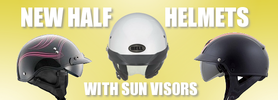 Half Helmets with Sun Shields