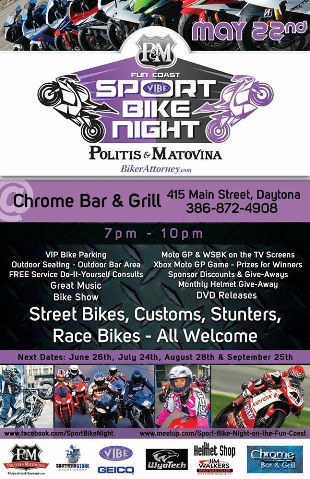 Daytona Beach Sport Bike Night Starts May 22,20104