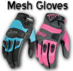 Ladies Mesh Motorcycle Gloves