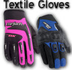 Ladies Textile Motorcycle Gloves