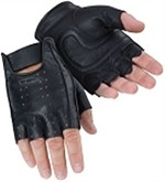 Tourmaster Select Fingerless Leather Motorcycle Gloves