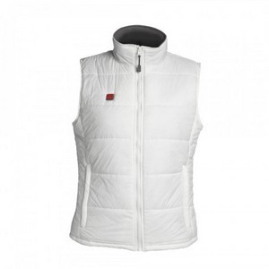 Venture Womens Battery Heated Nylon Vest White
