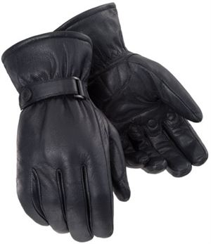 Tourmaster Custom Midweight Leather Motorcycle Gloves