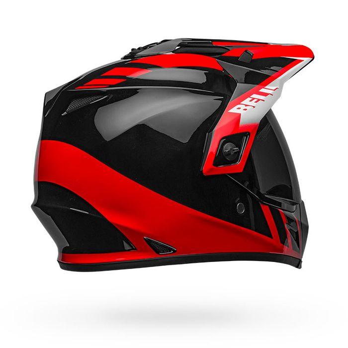 Dash Gloss Black//Red//White, Large Bell MX-9 Adventure MIPS Full-Face Motorcycle Helmet