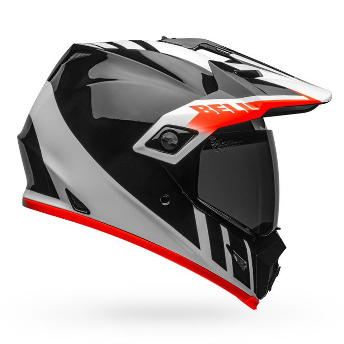 BELL MX-9 Adventure MIPS Dash Gloss Black/White/Orange Helmet