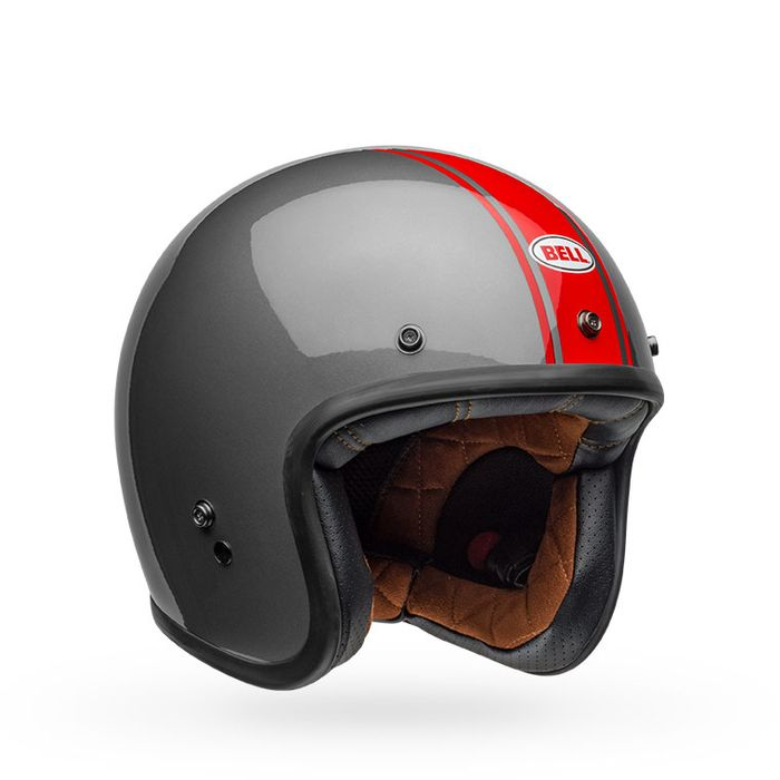 BELL Custom 500 Rally Gloss Gray/Red Helmet