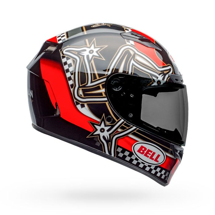 BELL Qualifier DLX Mips Isle of Man 2020 Gloss Red/Black/White Helmet
