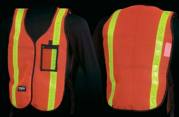 DELUXE HI-VIS VEST ORANGE/LIME