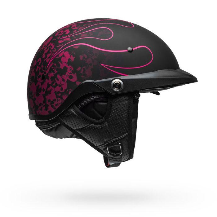 BELL Pit Boss Catacomb Jet//Half Helmet Matte Pinstripe Pink Cruiser Bike 709877*