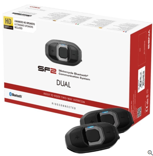 SENA SF2 BLUETOOTH COMMUNICATION SYSTEM HD SF2-02D DUAL