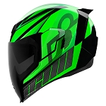 ICON Airflite QB1 Green Helmet