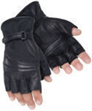 Tourmaster Gel Cruiser 2 Fingerless Leather Motorcycle Gloves
