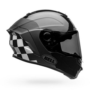 BELL STAR DLX MIPS Lux Checkers Matte/Gloss Black/White Helmet