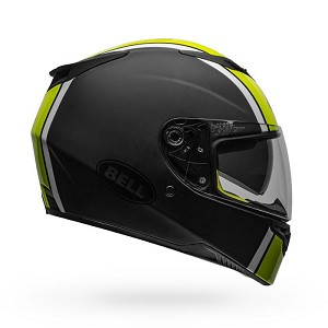 BELL RS-2 Rally Matte/Gloss Black/White HiViz Helmet