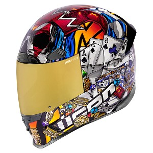 ICON Airframe Pro Luckylid3 Gold Helmet