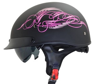 Vega Warrior II Pink Scroll Helmet